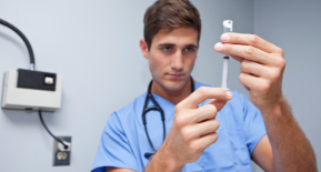 Photo of a health care worker